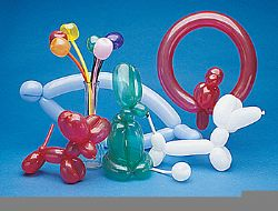 Animal balloon making kit 50/pk. W/pump