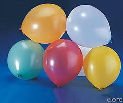 Clear Round Balloons 9'' 144/Pk.
