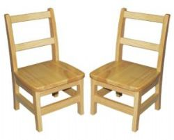 12'' Hardwood Ladderback Chairs Assambled