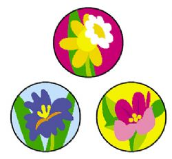 Spring Flowers Superspots Incentive Chart Stickers