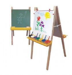 Paper Roll Adjustable Wood Easel